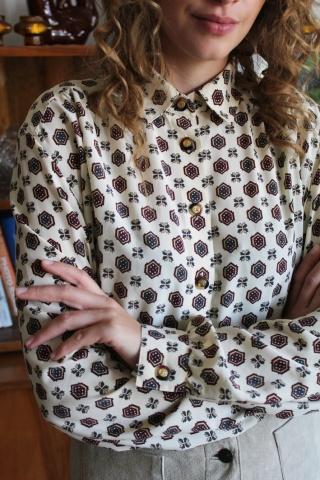 Vintage patterned long...
