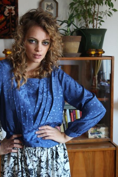 Vintage nebieska bluzka...