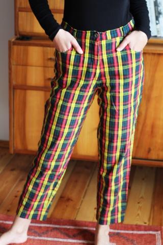 Vintage kolorowe kraciaste...