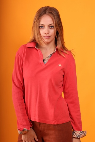 Vintage czerwona bluza polo...