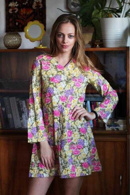 Vintage bawełniana sukienka...