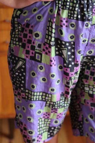 Vintage kolorowe szorty...