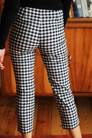 Vintage spodnie cygaretki w...