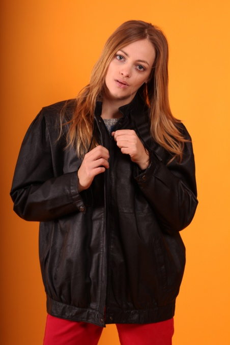 Vintage czarna  kurtka ze...