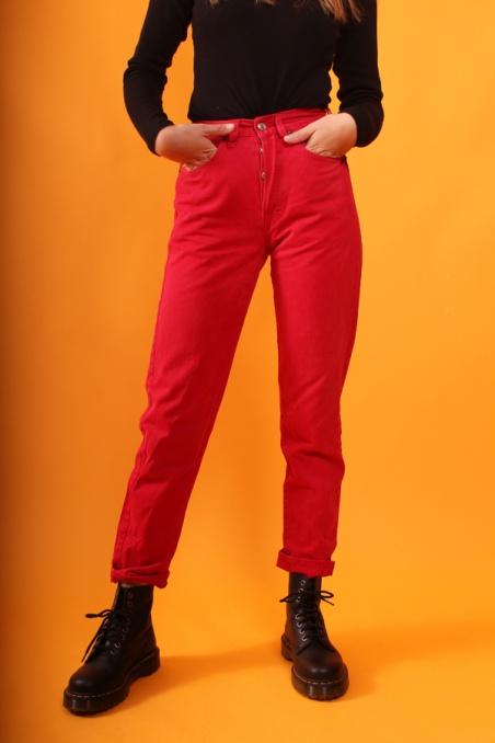 Vintage red denim jeans...