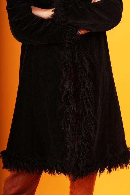 Vintage czarny aksamitny...