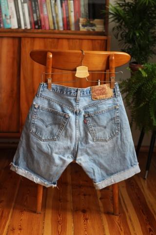 Vintage jasne jeansowe...