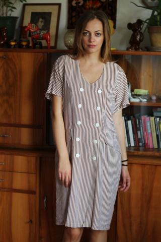Vintage sukienka w paski...