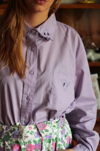 Vintage liliowa koszula z...