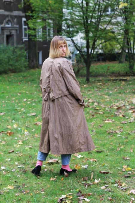 Vintage jesienny płaszczyk...