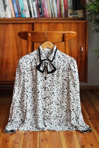 Vintage biało-czarna bluzka...