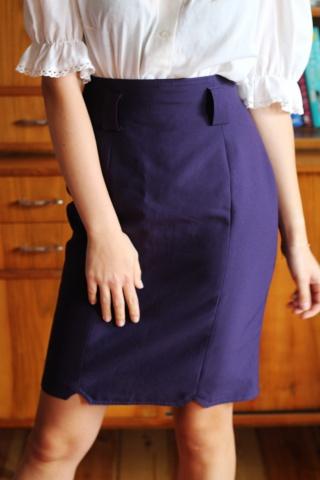 Vintage śliwkowa spódnica...