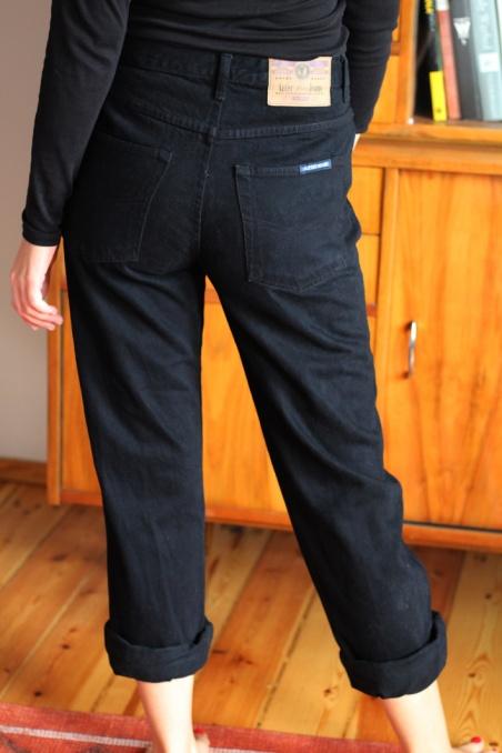 Vintage czarne mom jeans...