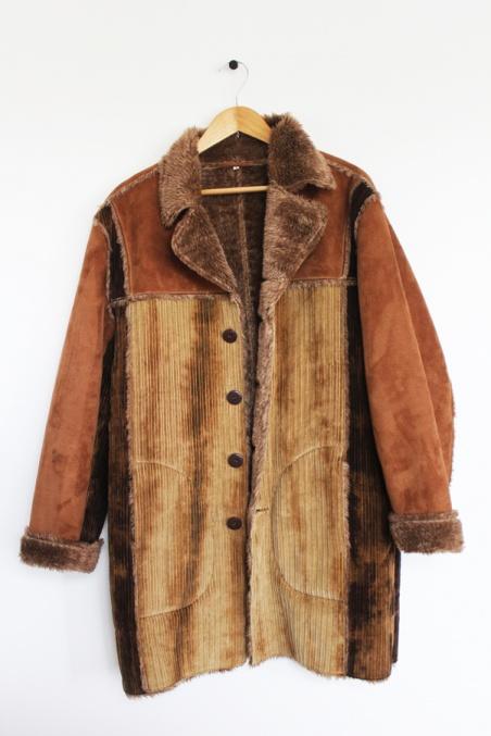 Vintage bawełniany kożuch...