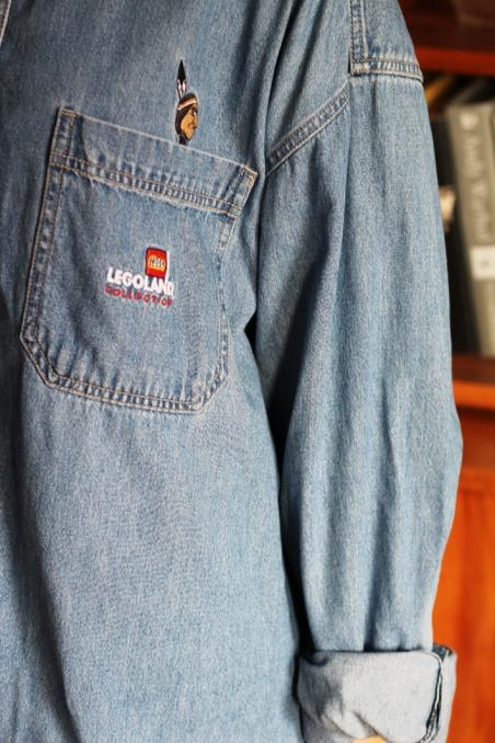 Vintage jeansowa koszula...