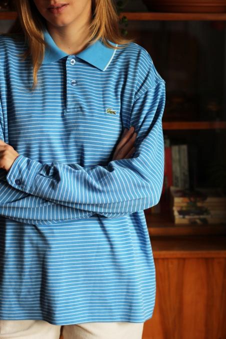 Vintage niebieski pasiasty...