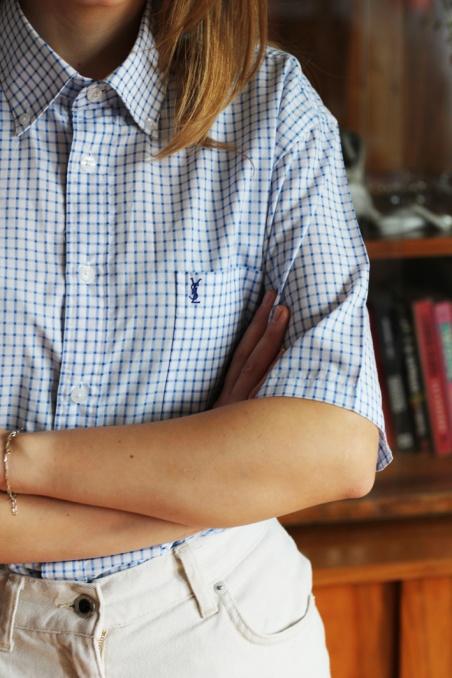 Vintage kraciasta koszula z...