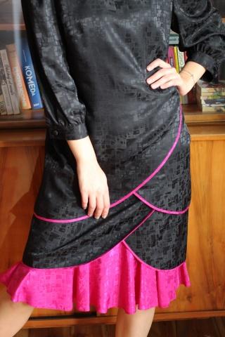 Vintage czarno-różowa...