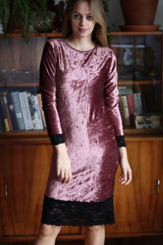 Vintage aksamitna sukienka...