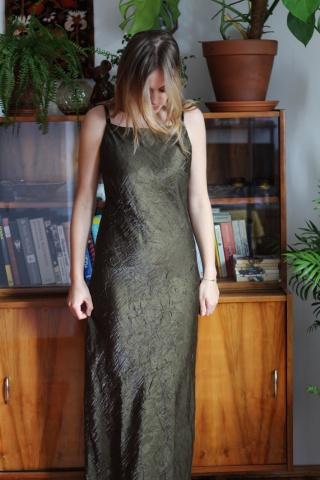 Vintage metaliczna sukienka...