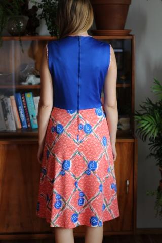 Vintage kolorowa sukienka w...