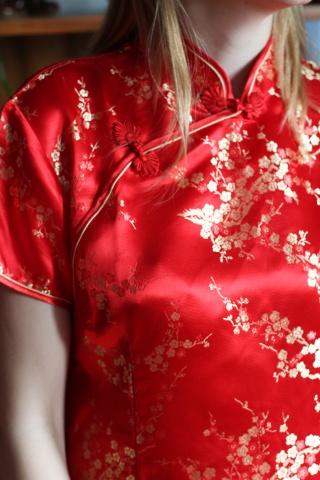 Vintage jedwabna bluzka w...