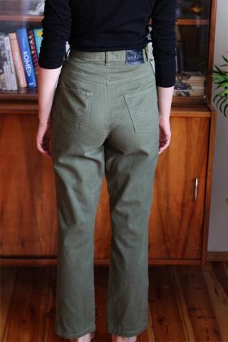 Vintage zielone spodnie mom...