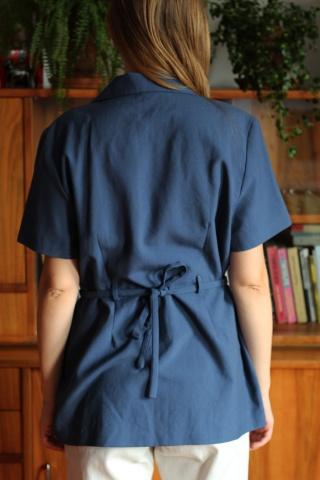 Vintage niebieska bluzka z...