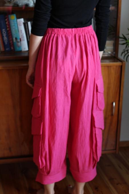 Vintage różowe szerokie...