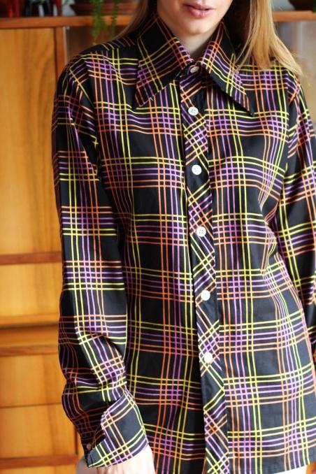 Vintage koszula w kolorową...