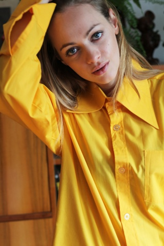 Vintage żółta bawełniana...