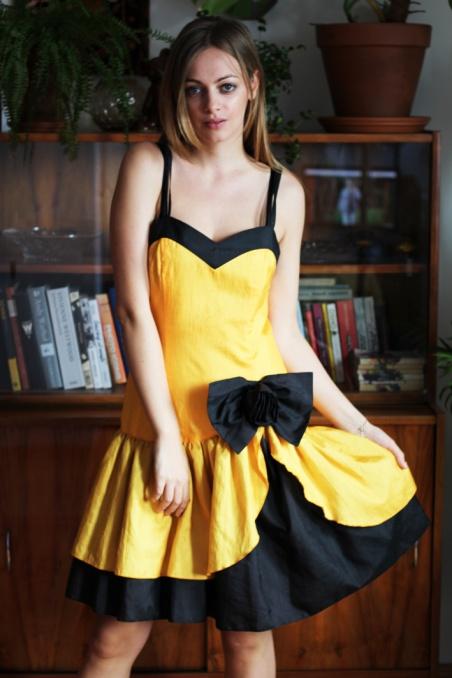 Vintage żółto-czarna...
