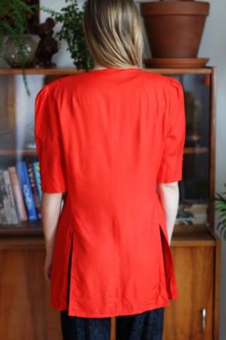 Vintage czerwona koszula ze...