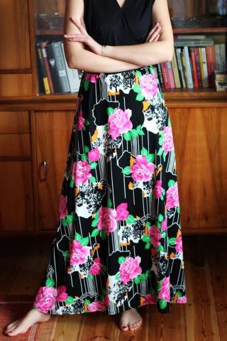 Vintage sukienka maxi z...
