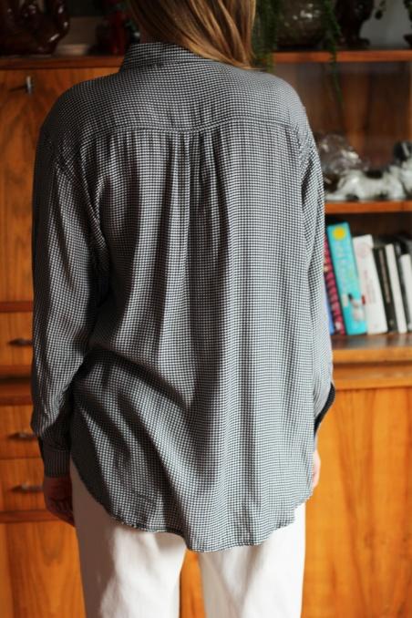 Vintage koszula z wiskozy w...