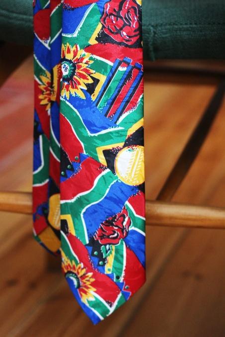 Vintage krawat w kolorowe...