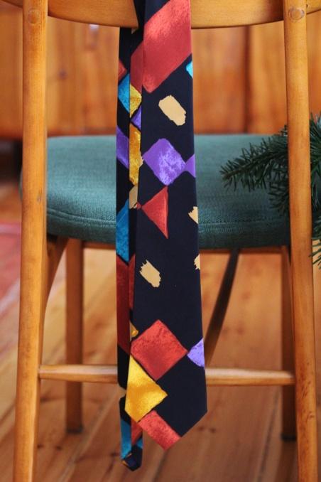Vintage jedwabny  krawat...