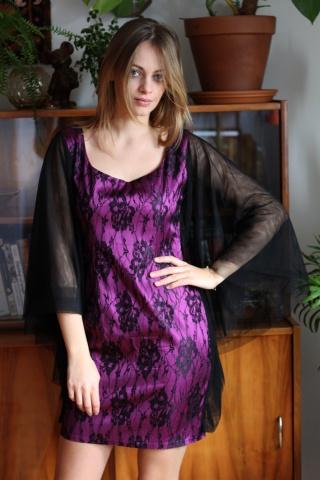 Vintage sukienka z koronką...