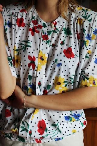 Vintage bluzka w kolorowy...