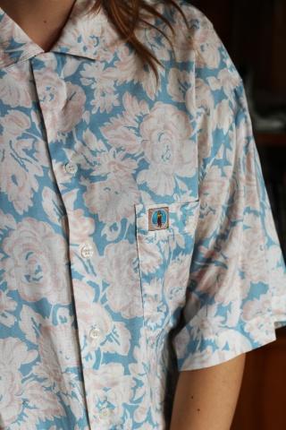 Vintage floral short sleeve...