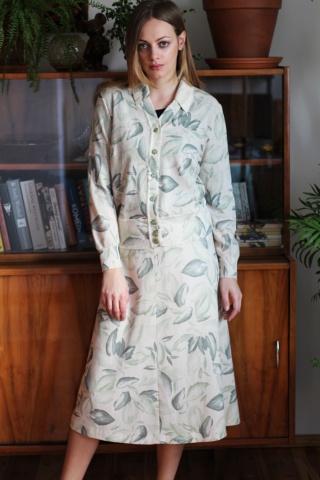 Vintage woolen floral set:...