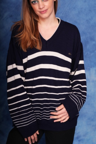 Vintage cotton navy and...