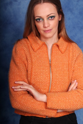 Vintage wełniany sweterek z...