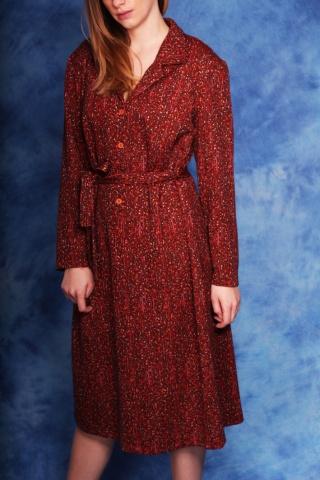 Vintage cieniowana sukienka...
