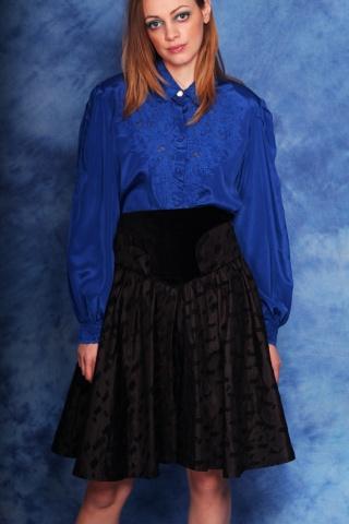 Vintage czarna spódnica z...