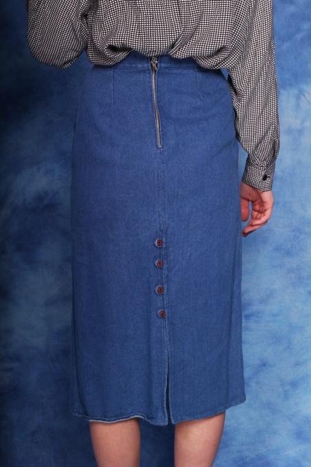Vintage jeansowa spódnica...