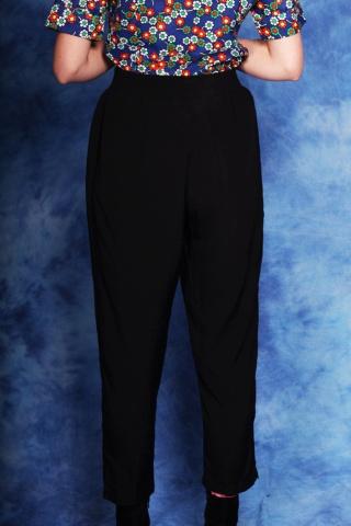Vintage czarne spodnie z...