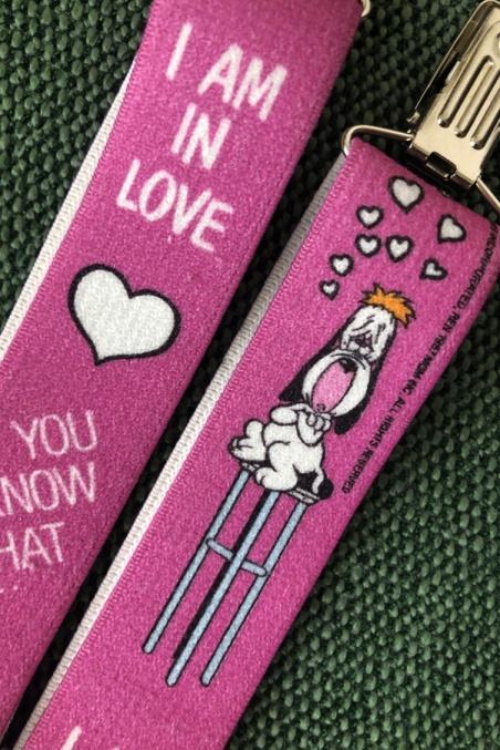 Vintage pink suspenders...