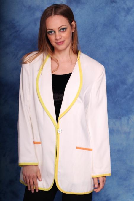 Vintage biała marynarka...