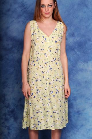 Vintage sukienka w kwiaty z...